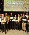 [Translate to English:] Adjungeret professor Ole Green fra Institut for Agroøkologi (nr. 3 fra venstre) har vundet en Agromek Award. Foto: Agromek